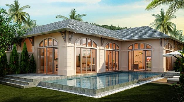 The Luxury có những biệt thự nhìn ra biển