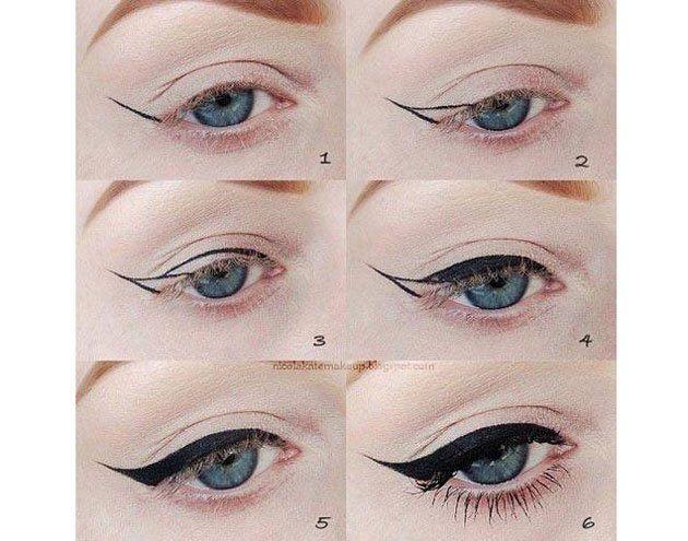 Kẻ mắt nước đơn giản như hình vẽ