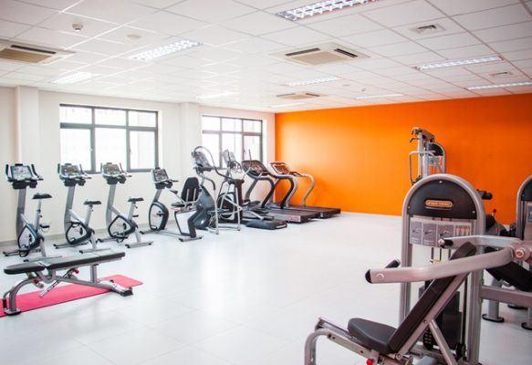 Phòng thể dục không thua kém gì phòng tập gym