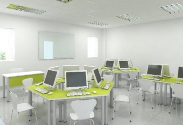 Phòng máy tính trẻ trung tạo hứng thú chobất kỳ ai