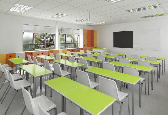 Phòng học hiện đại với những trang thiết bị tối tân