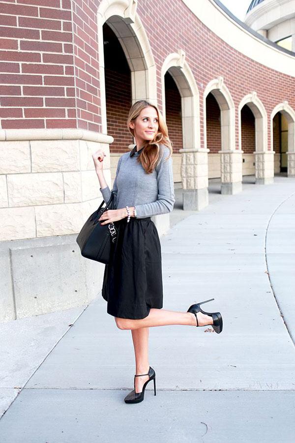 Mặc đẹp tuổi 30 nên kết hợp giữa áo và chân váy