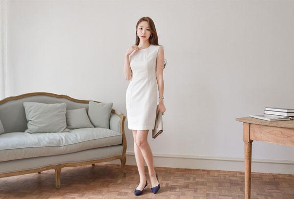 Mẫu đầm trắng nhã nhặn - Áo đầm đẹp tuổi 30