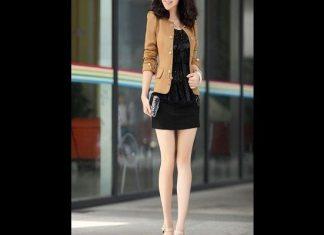 mẫu đầm công sở theo phong cách Hàn